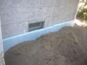 Die Außenwände werden gedämmt - auch die Kellerwände