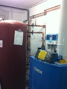 Frischwasserstation  mit Pufferspeicher - und später kommt noch die Solaranlage dazu