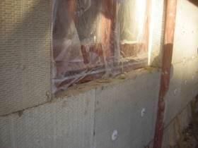Dämmung der Außenwände, Mineralwolle mit Thermodübeln