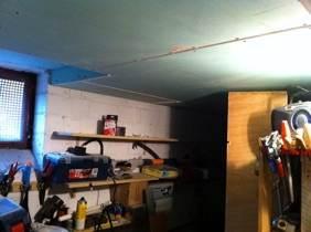 Auch die Kellerdecke wird gedämmt